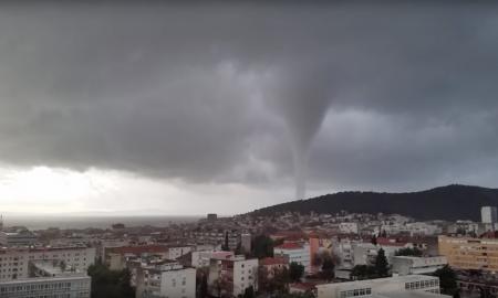Eine Windhose verwüstete die kroatische Küstenstadt Split