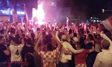 Kroaten in Stuttgart feiern den Sieg gegen Spanien