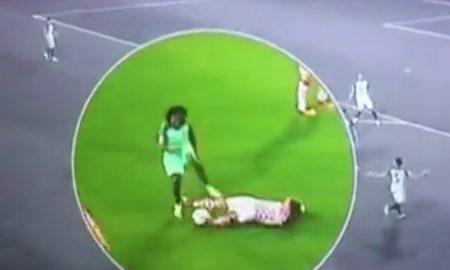 Die Aufnahmen zeigen eindeutig wie Renato Schanchez mit dem Fuß ausholt um Kroatiens Superstar Luka Modric bewusst während der Achtelfinal-Begegnung Kroatien-Portugal der EM 2016 zu verletzen.