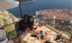 Marcelo Vieira da Silva Júnior in Dubrovnik mit einem Traumblick auf Dubrovnik - der Perle der Adria