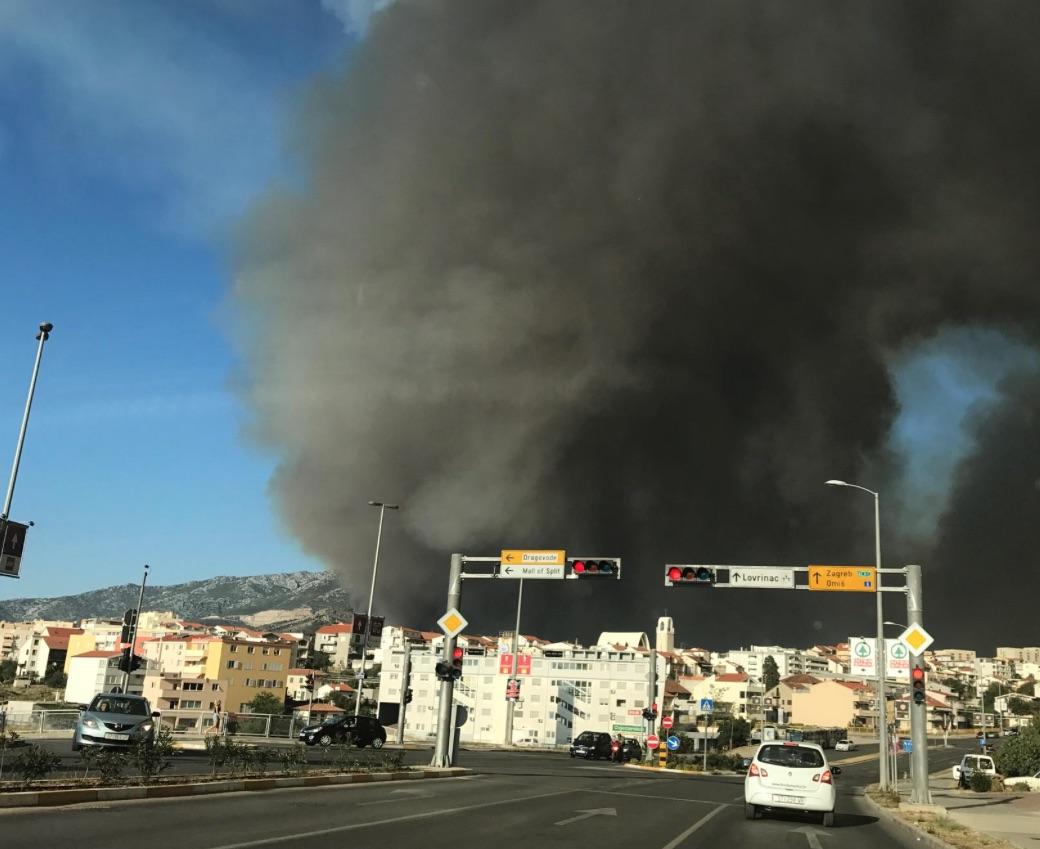 Waldbrand bei Split / Kroatien (Foto: Leser)