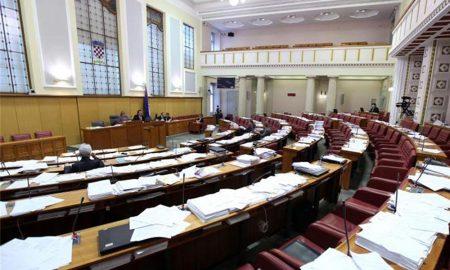 Das kroatische Parlament in Zagreb