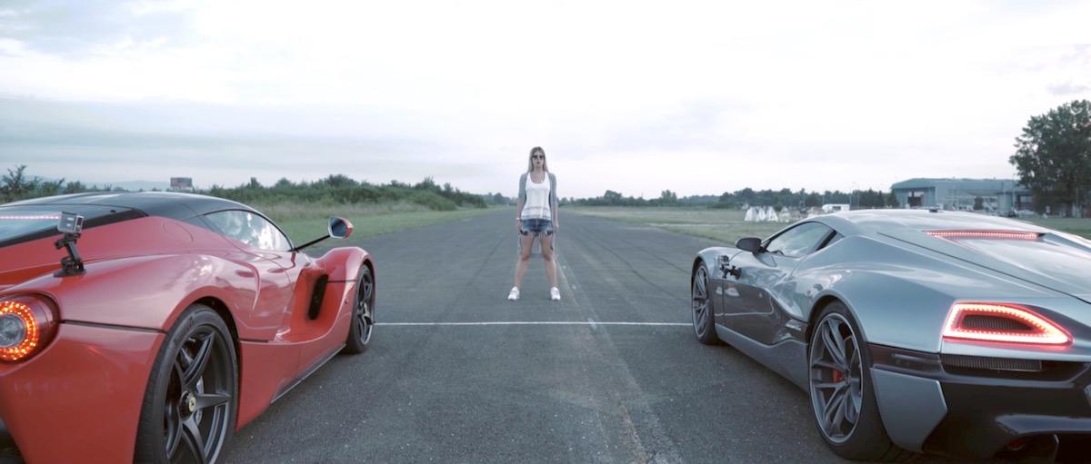 Rimac Concept_One zieht den Tesla P90D den LaFerrari ab