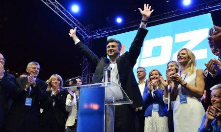 HDZ-Chef Andrej Plenkovic führt seine Partei zum Sieg während der Parlamentswahl 2016 in Kroatien