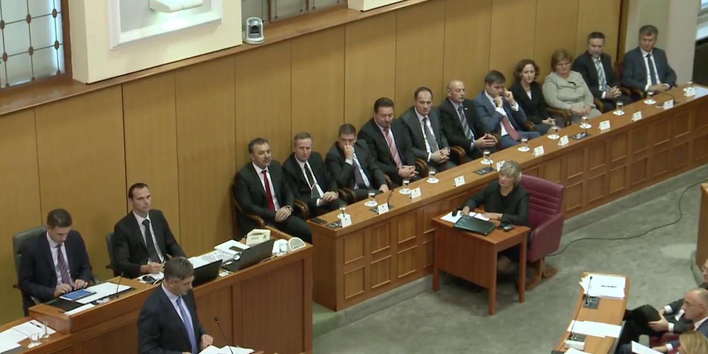 Die neuen kroatischen Minister im Parlament