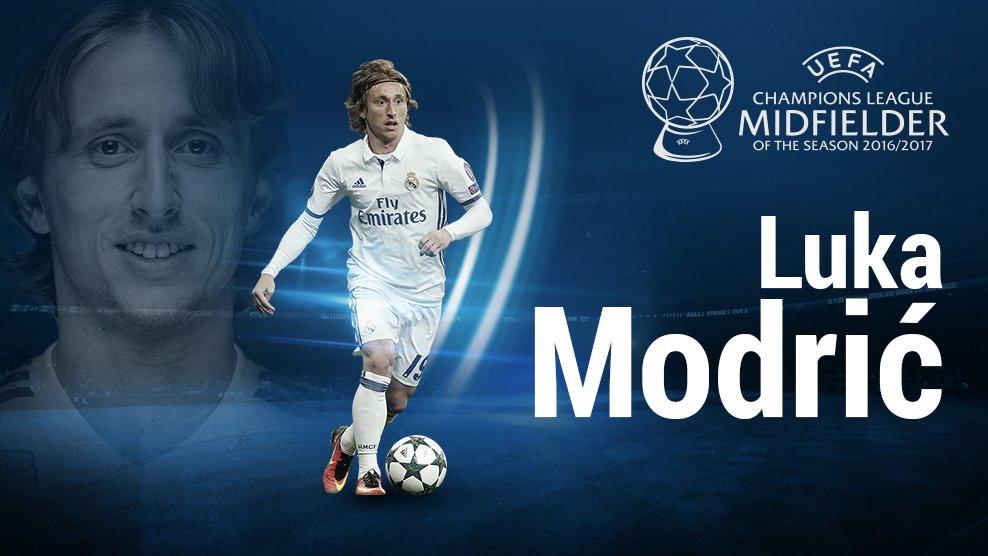 Kroate Luka Modric wurde zum besten Mittelfeldspieler Europas gekührt.